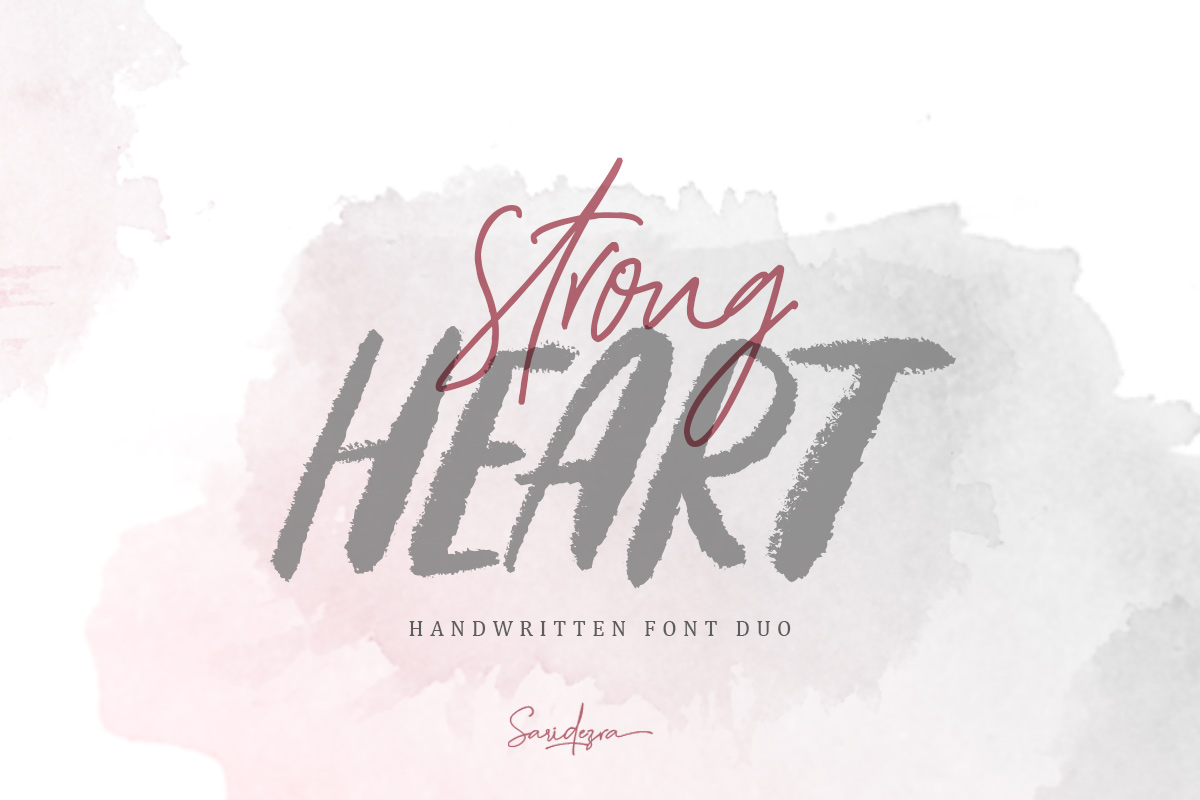 Strong Heart - Font Duo example image 1