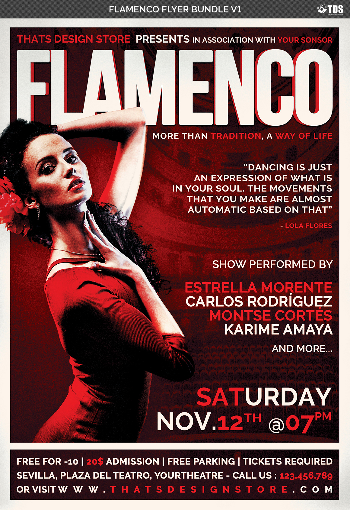 Flamenco Flyer Bundle V1 example image 5