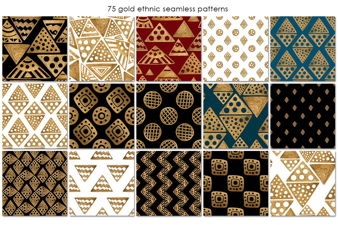 GOLD ETHNIC patterns example image 2