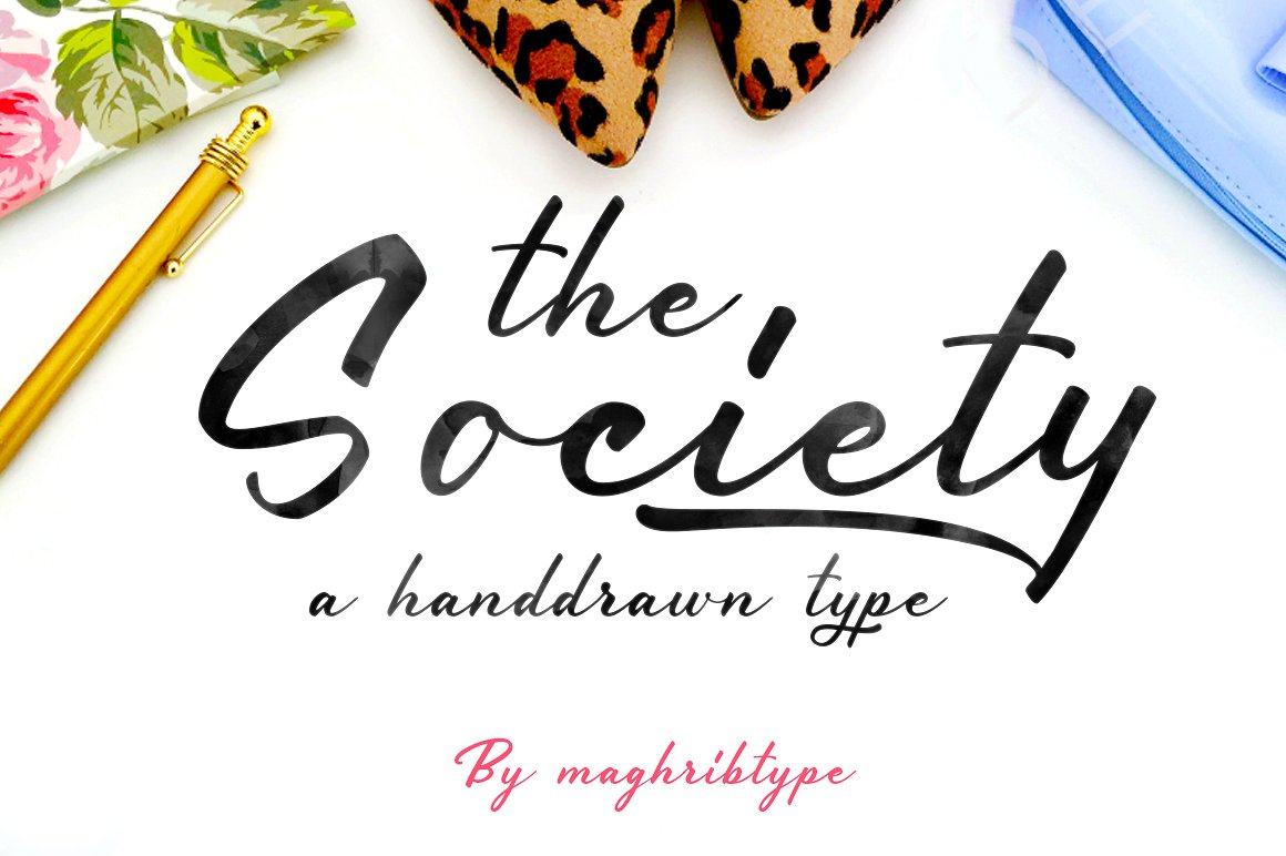 Society typeface example image 1