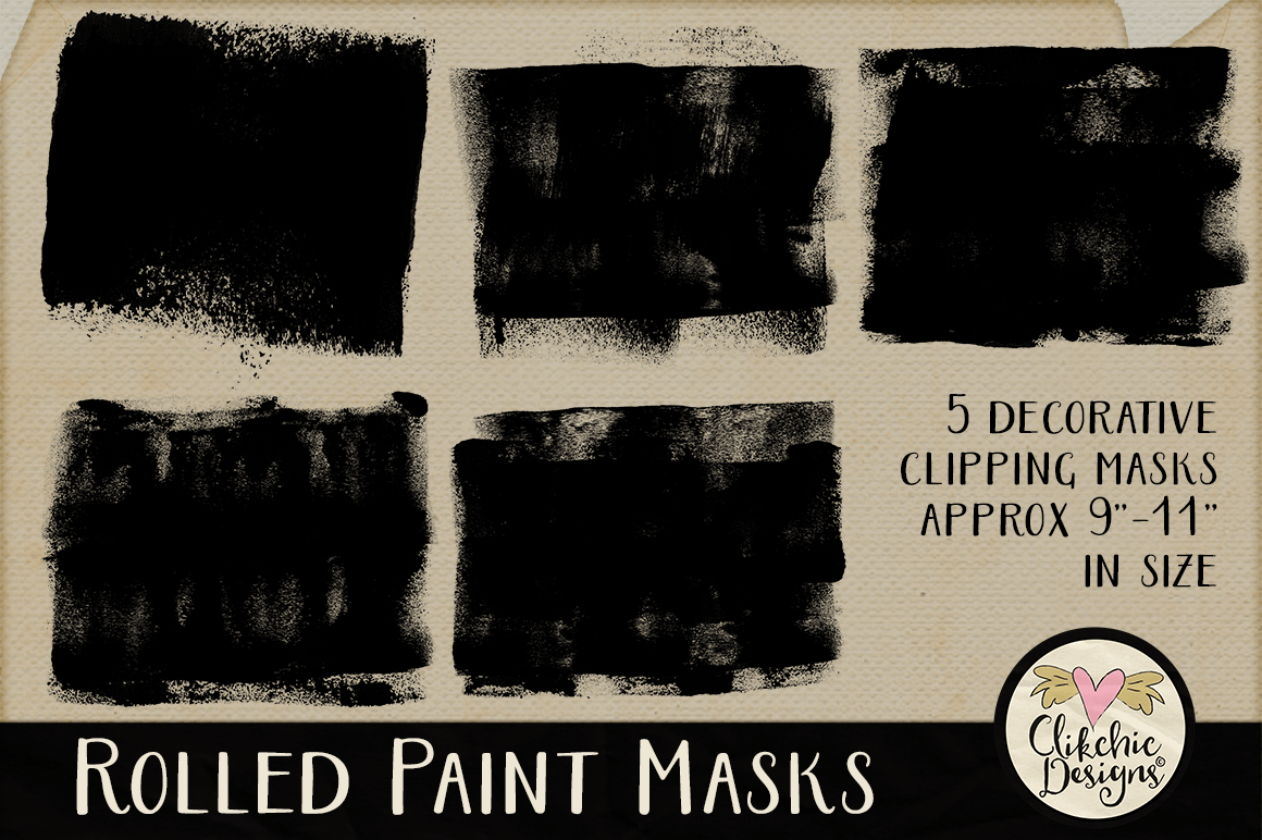 Clipping Masks - Rolled Paint Photoshop Masks & Tutorial example image 2