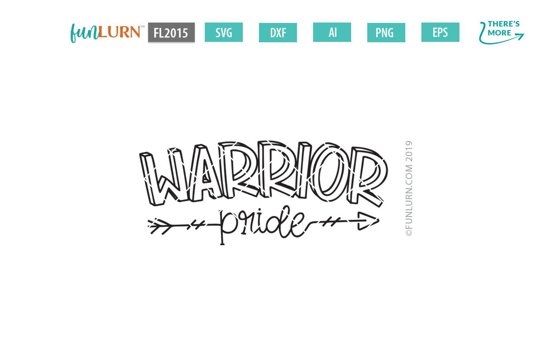 Warrior Pride Team SVG Cut File example image 2