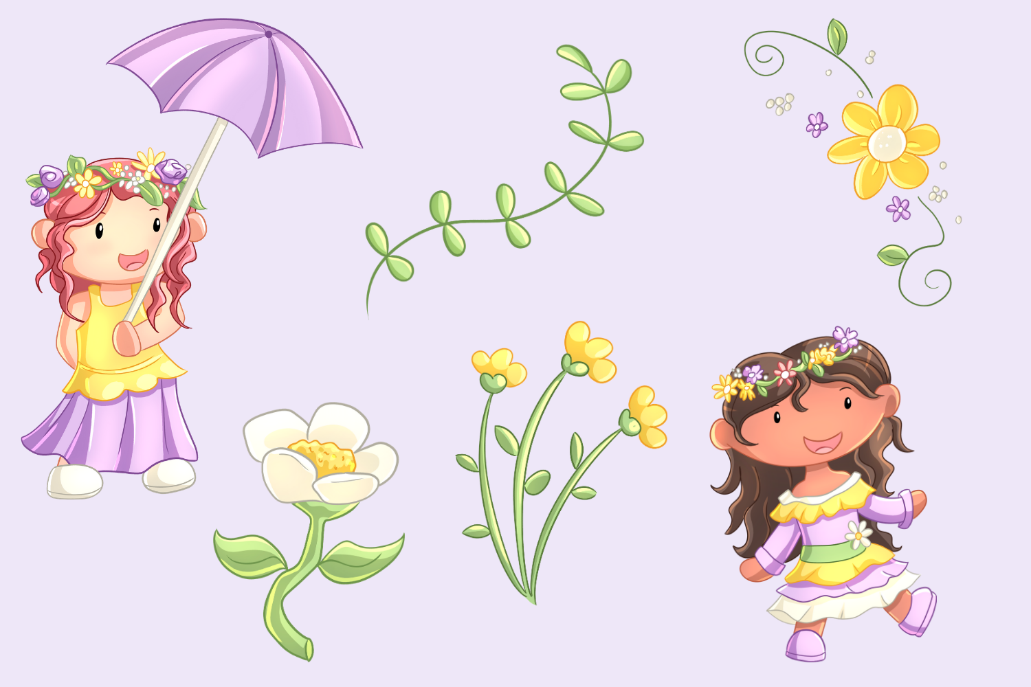 May Flowers Clip Art Collection example image 3