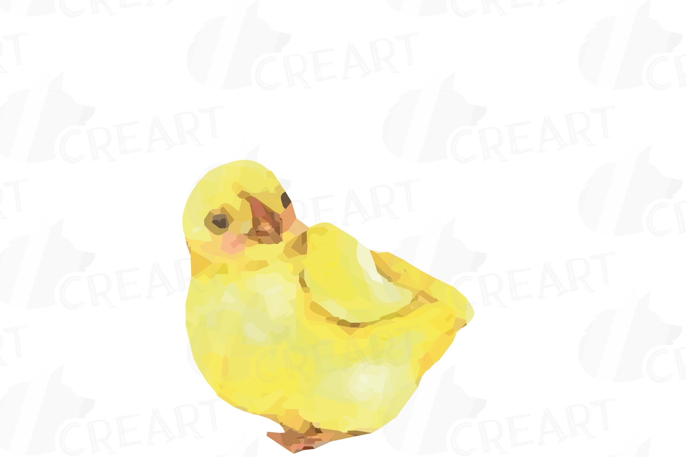 Colorful Easter elements clip art pack, printable hand drawn example image 2