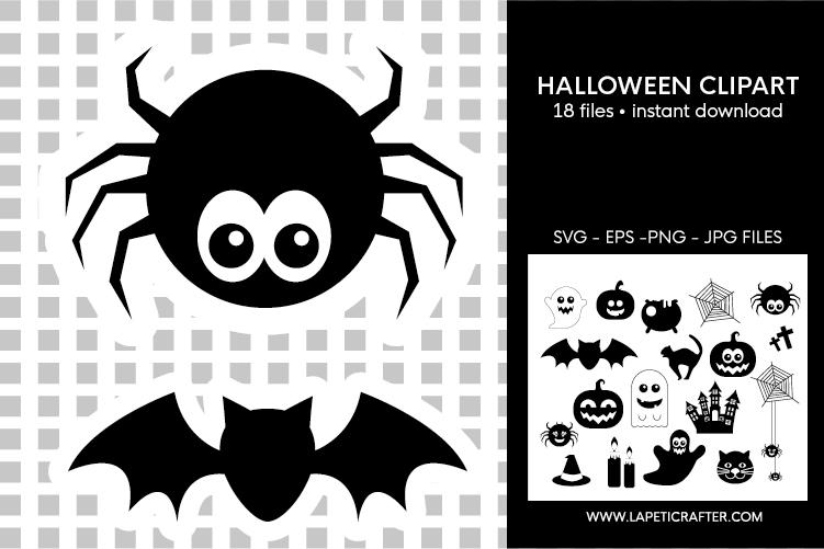 Halloween silhouette, halloween black clipart, digital stick example image 4