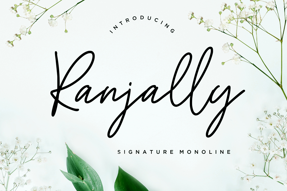 Ranjally Monoline Signature example image 1