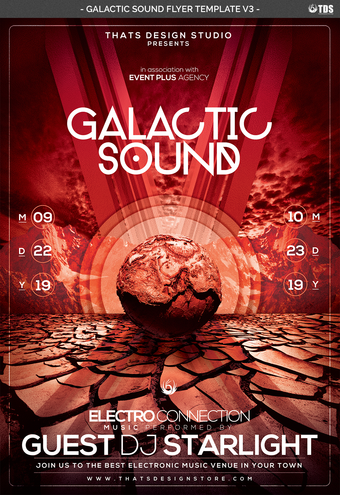 Galactic Sound Flyer Template V3 example image 4
