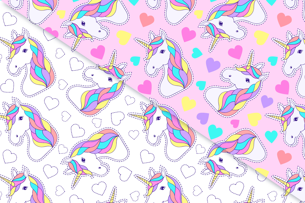 Unicorns.Surface patterns. example image 2