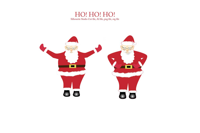 Print and Cut Santa Graphic File example image 1