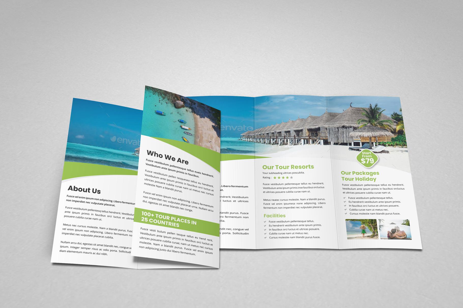 Travel Resort Trifold Brochure v3 example image 3