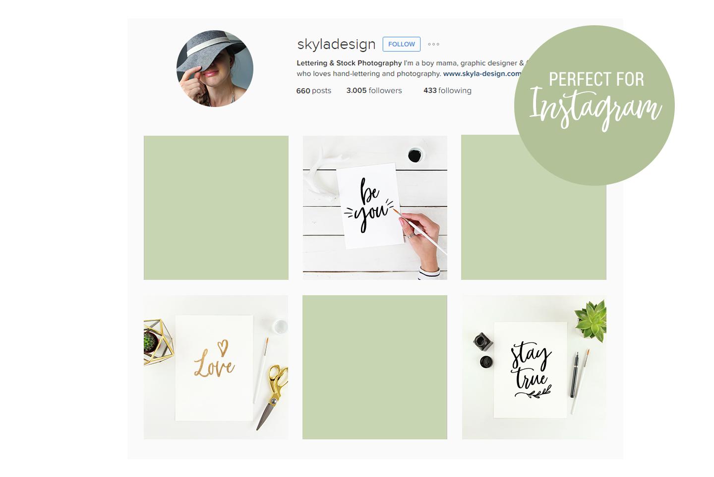 10 Feminine artist styled stock photo's mockup bundle flatlays example image 3