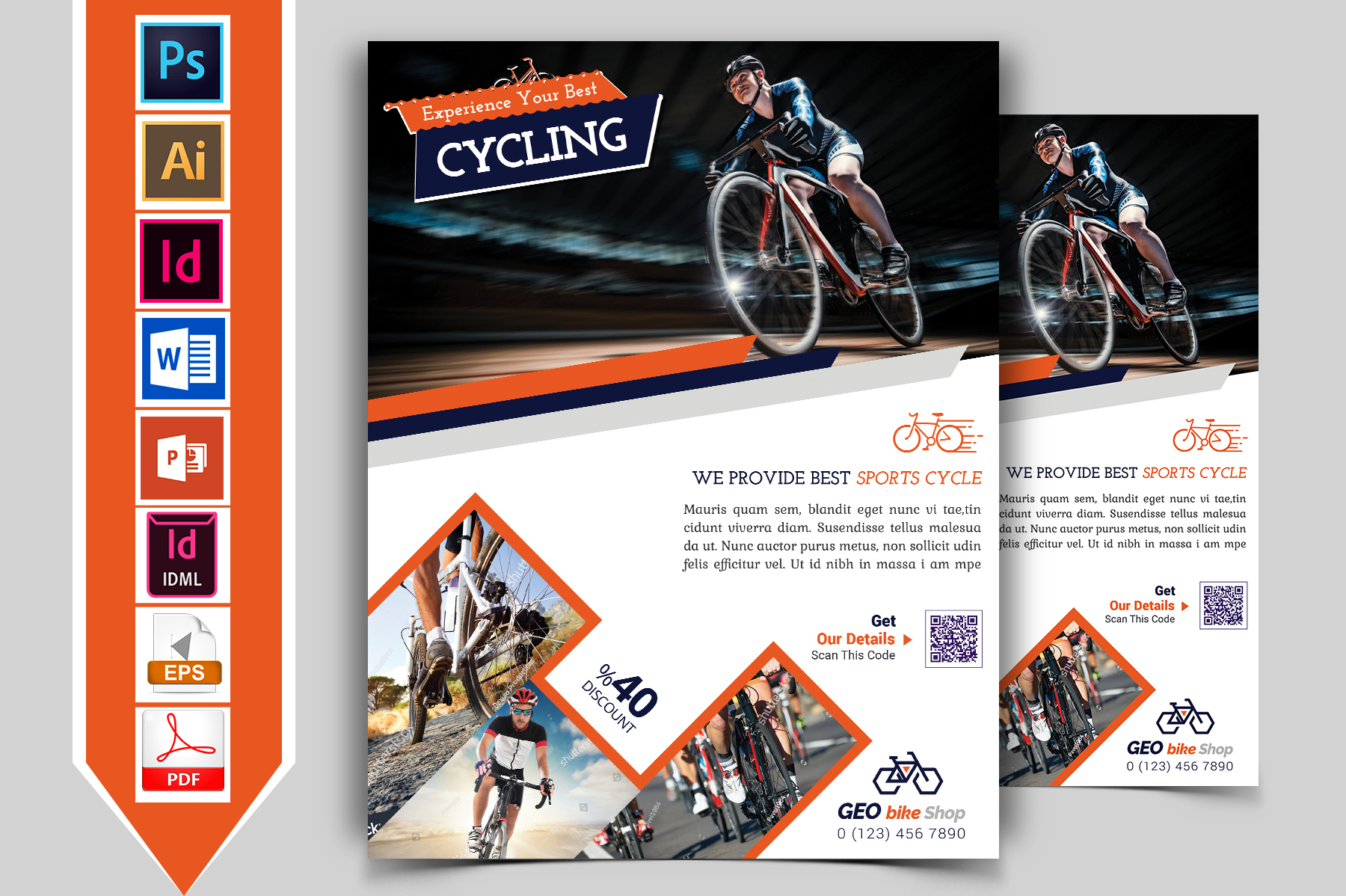Cycle Shop Flyer Template Vol-01 example image 1