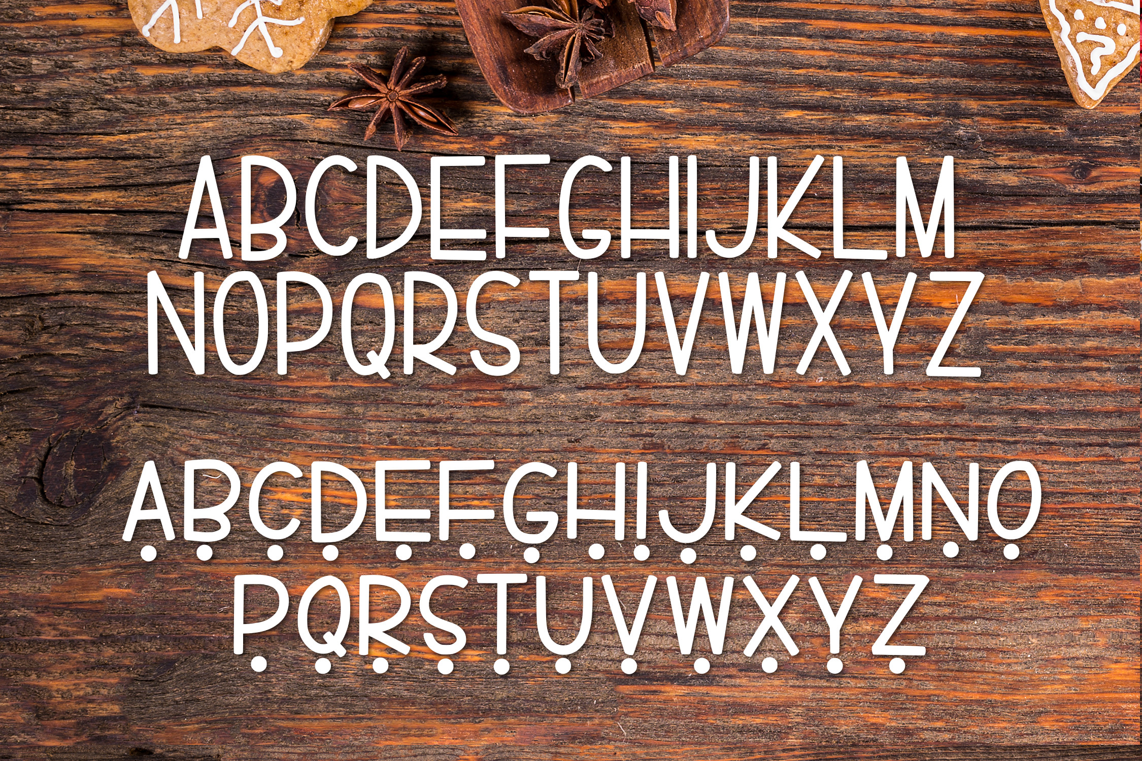 Gingerbread a Tasty Font example image 2