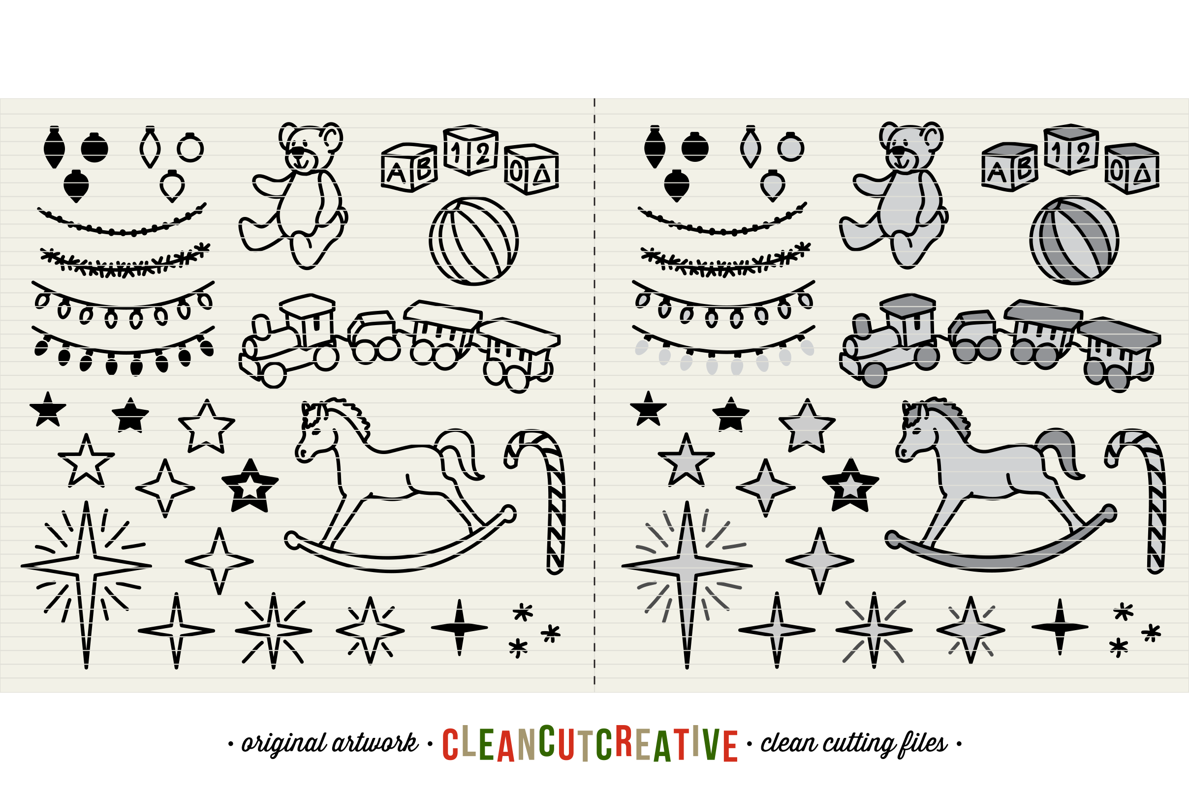 The Crafters Christmas Toolkit - 150+ Christmas Design Elements - SVG DXF EPS - Cricut & Silhouette - clean cutting files example image 7