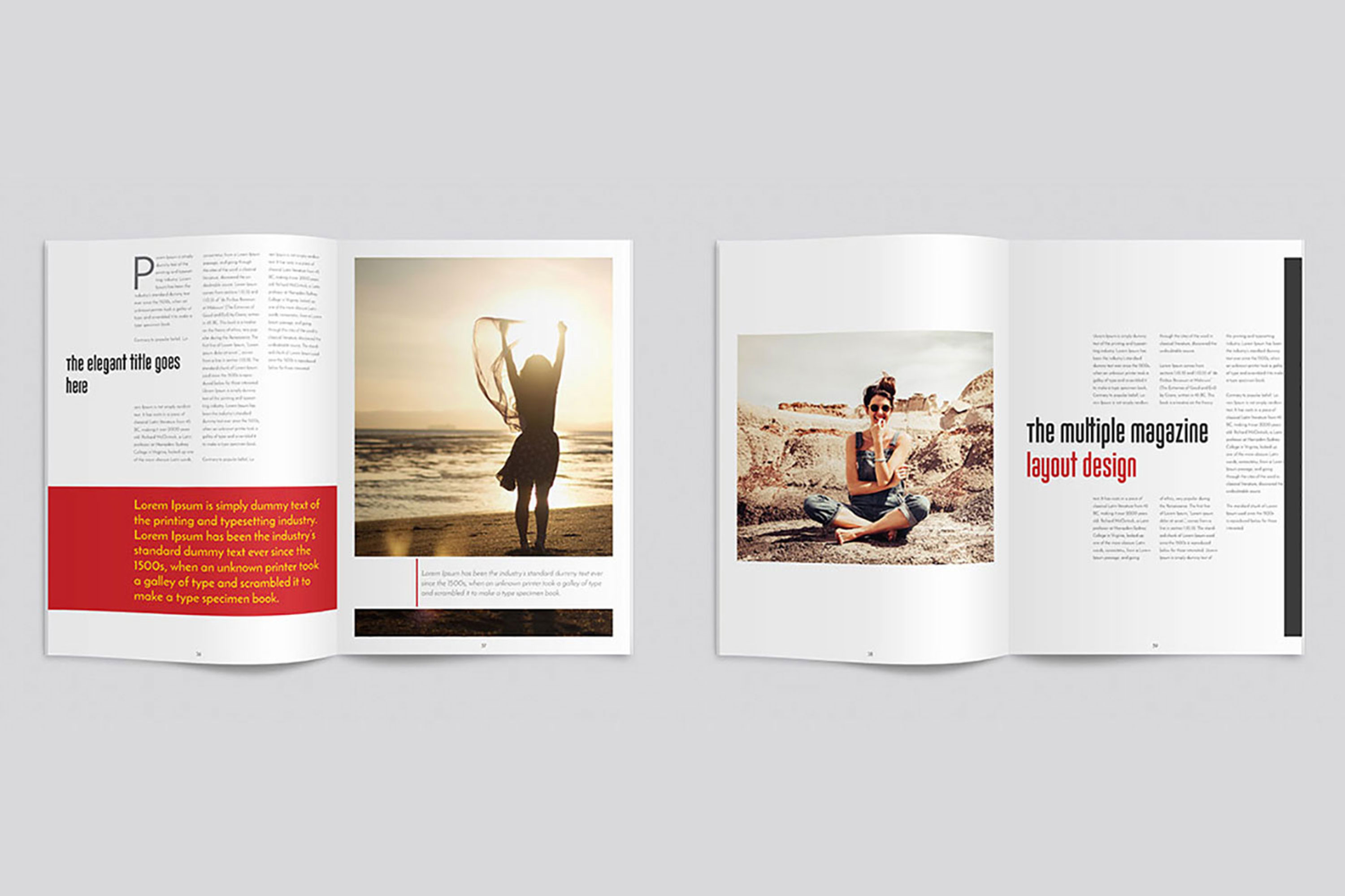 InDesign Multiple Magazine Layout example image 8