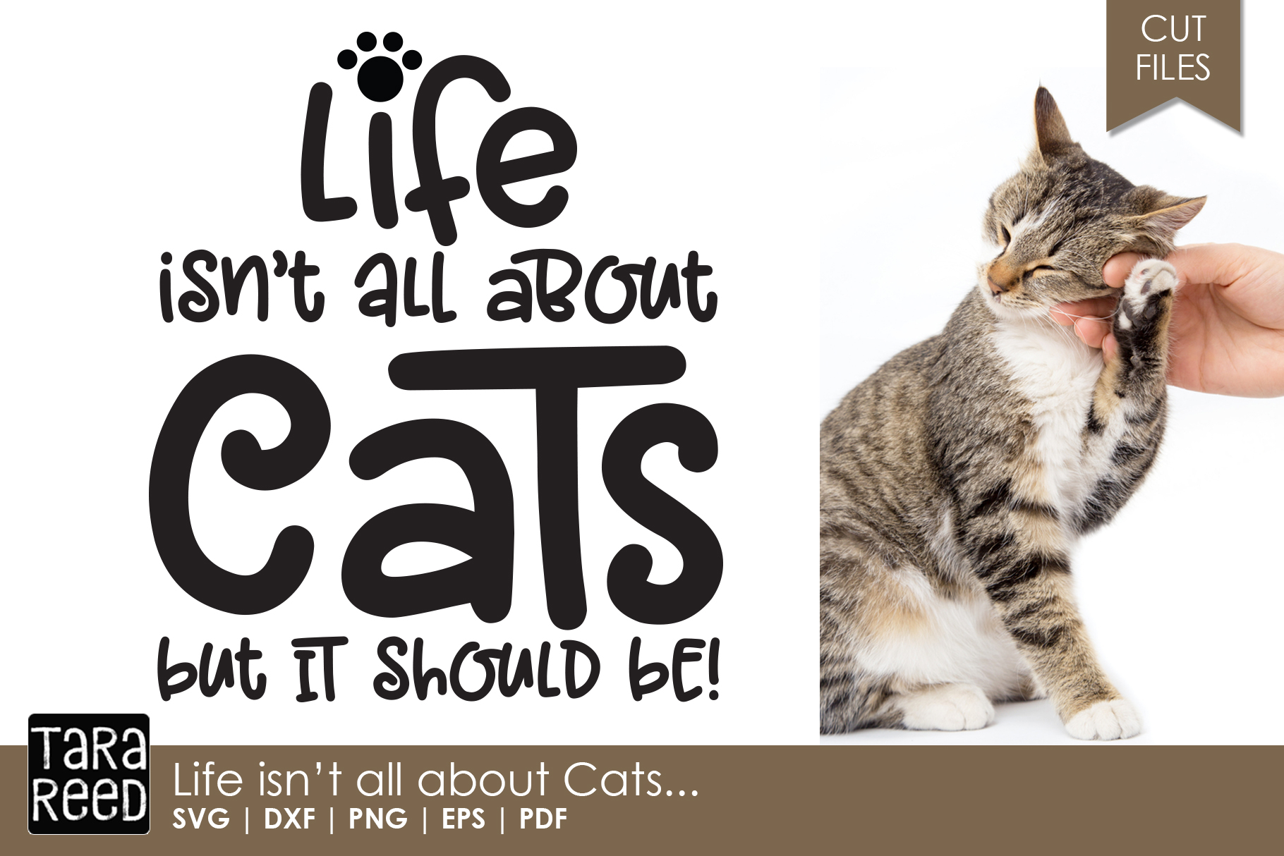 Life isn't all about Cats - Cat SVG and Cut Files example image 1