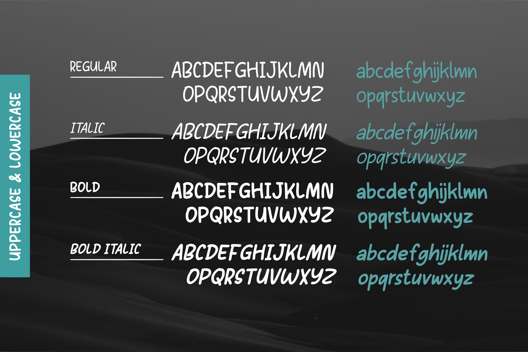 Sans Andreas // Handwritten family example image 5