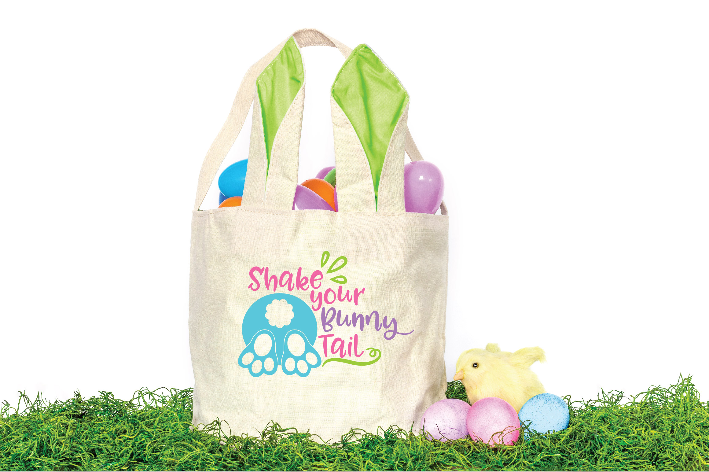Easter SVG Cut File - Shake your Bunny Tail SVG DXF EPS PNG example image 2