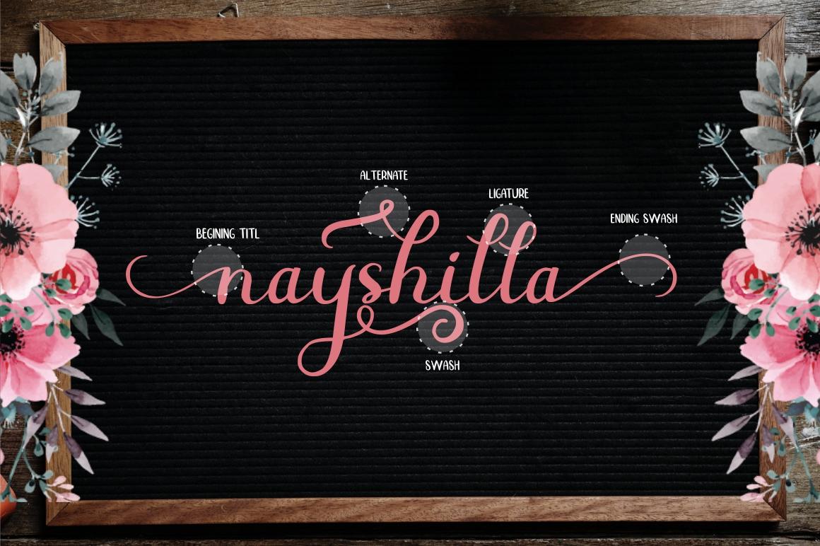 Beauty Nayshilla Font Duo example image 2