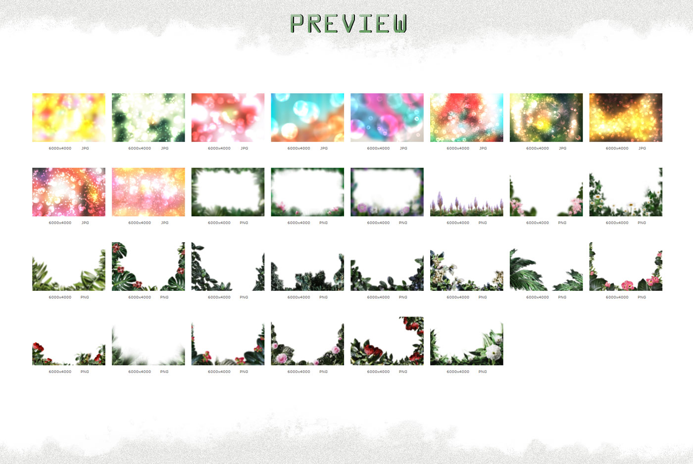 Summer overlays templates frames textures backdrop wedding example image 8