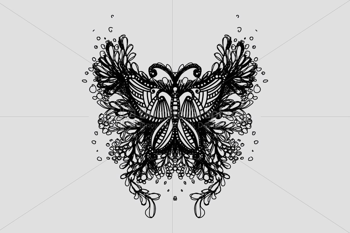 Beautiful Butterfly - Creative Scribble Style Insect example image 1