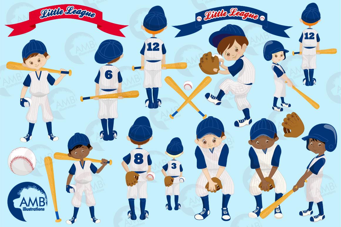 Baseball team, baseball players, graphics, illustrations AMB-1227 example image 6
