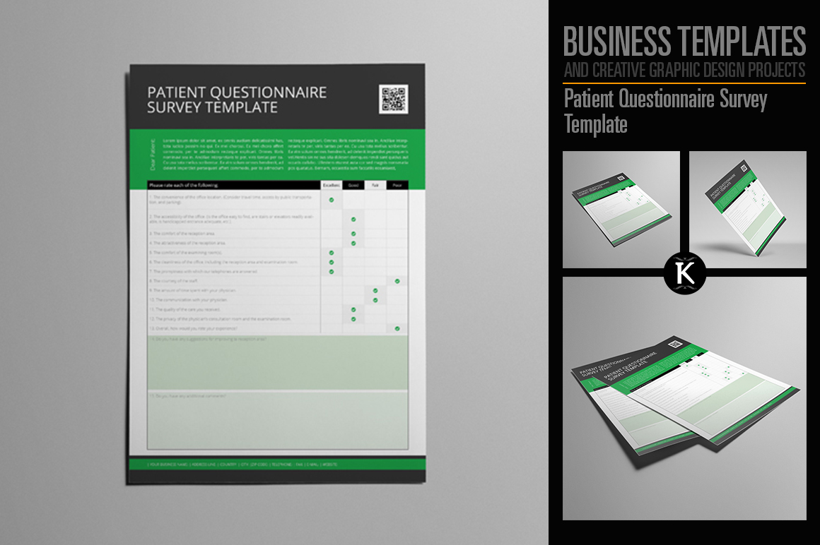 Patient Questionnaire Survey Template example image 1