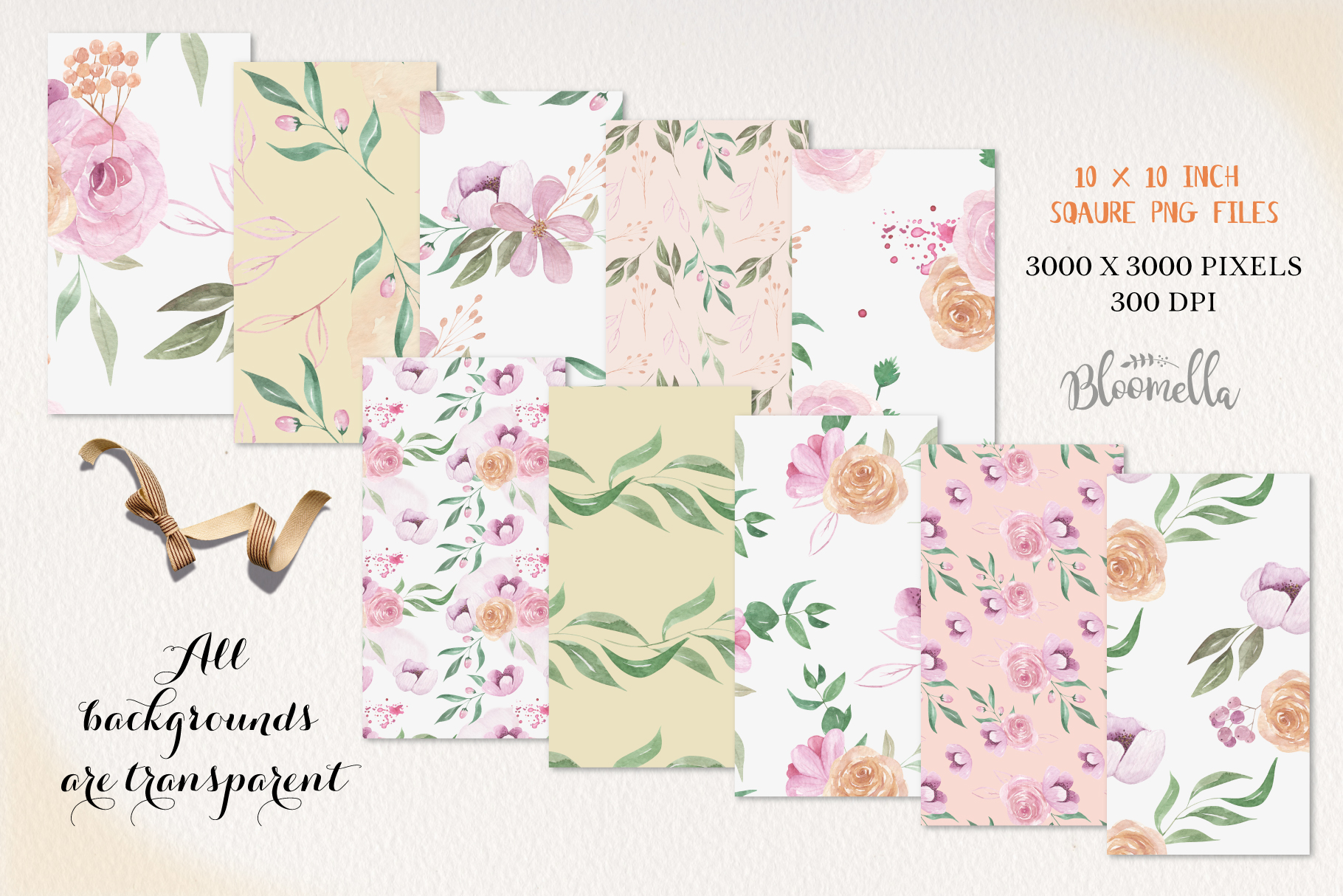 Fairy Tale Seamless Patterns Digital Papers Flowers Floral example image 3
