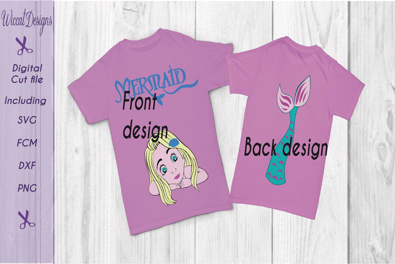 Mermaid svg, mermaid shirt svg, tail svg, girls svg,  example image 1