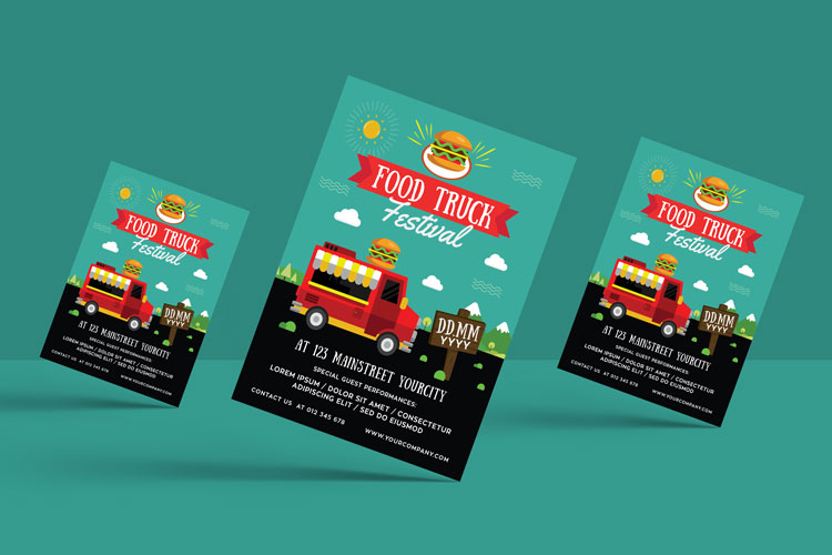 FOOD TRUCK FESTIVAL FLYER 1 example image 2