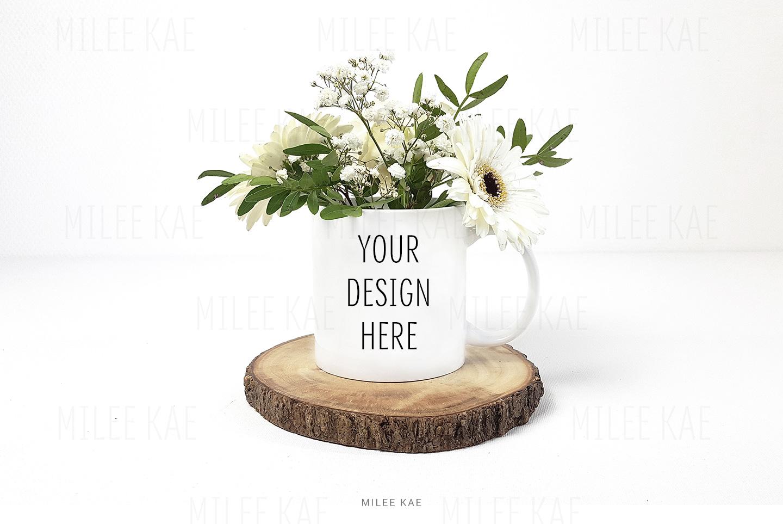White coffee mug mockup, JPG & PSD example image 2