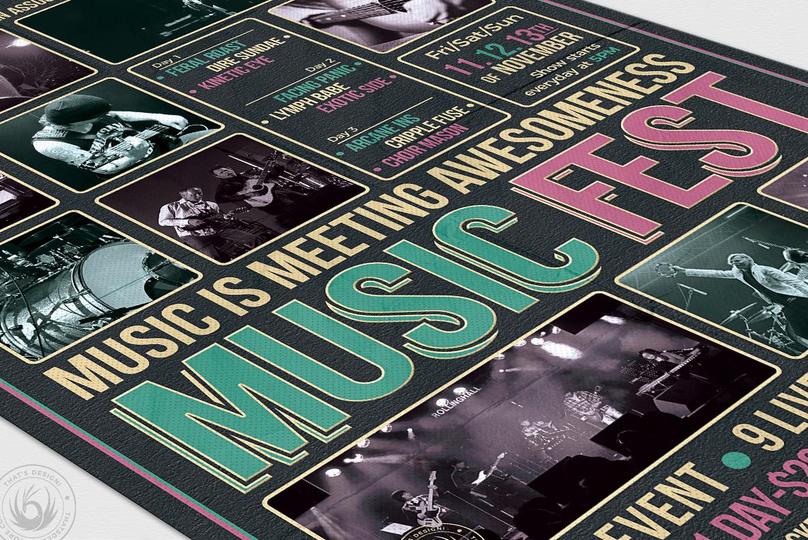 Music Festival Flyer Template V8 example image 6