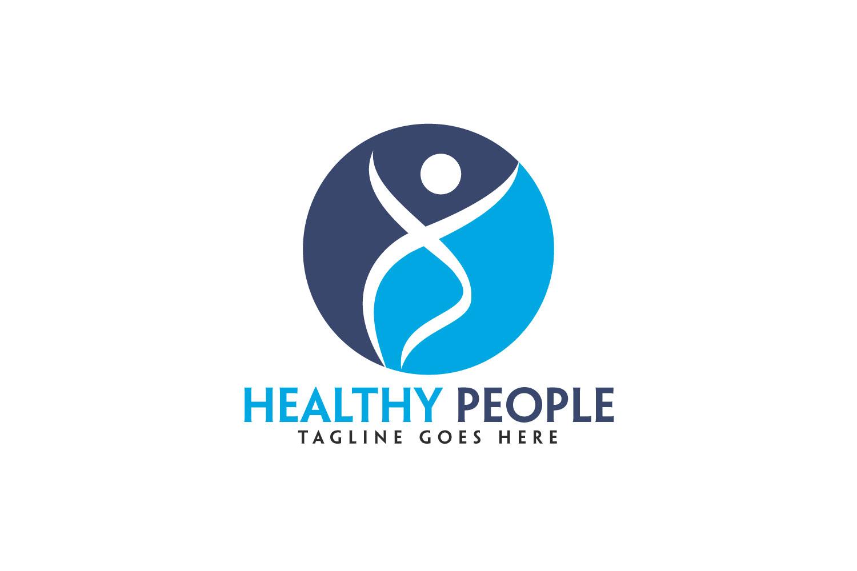 Healthy People Logo Design. example image 1