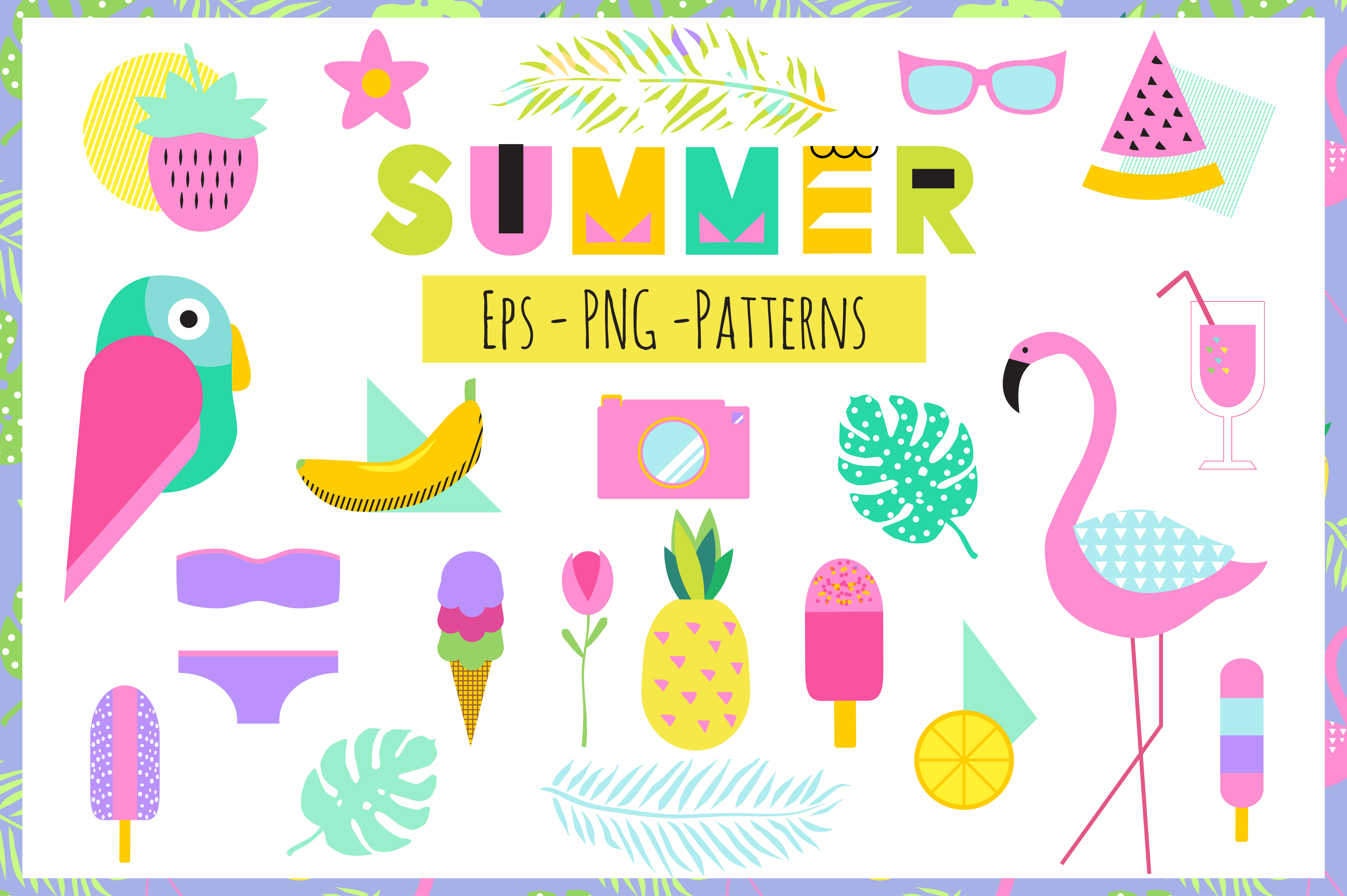 Creative Summer Set Eps Png example image 1