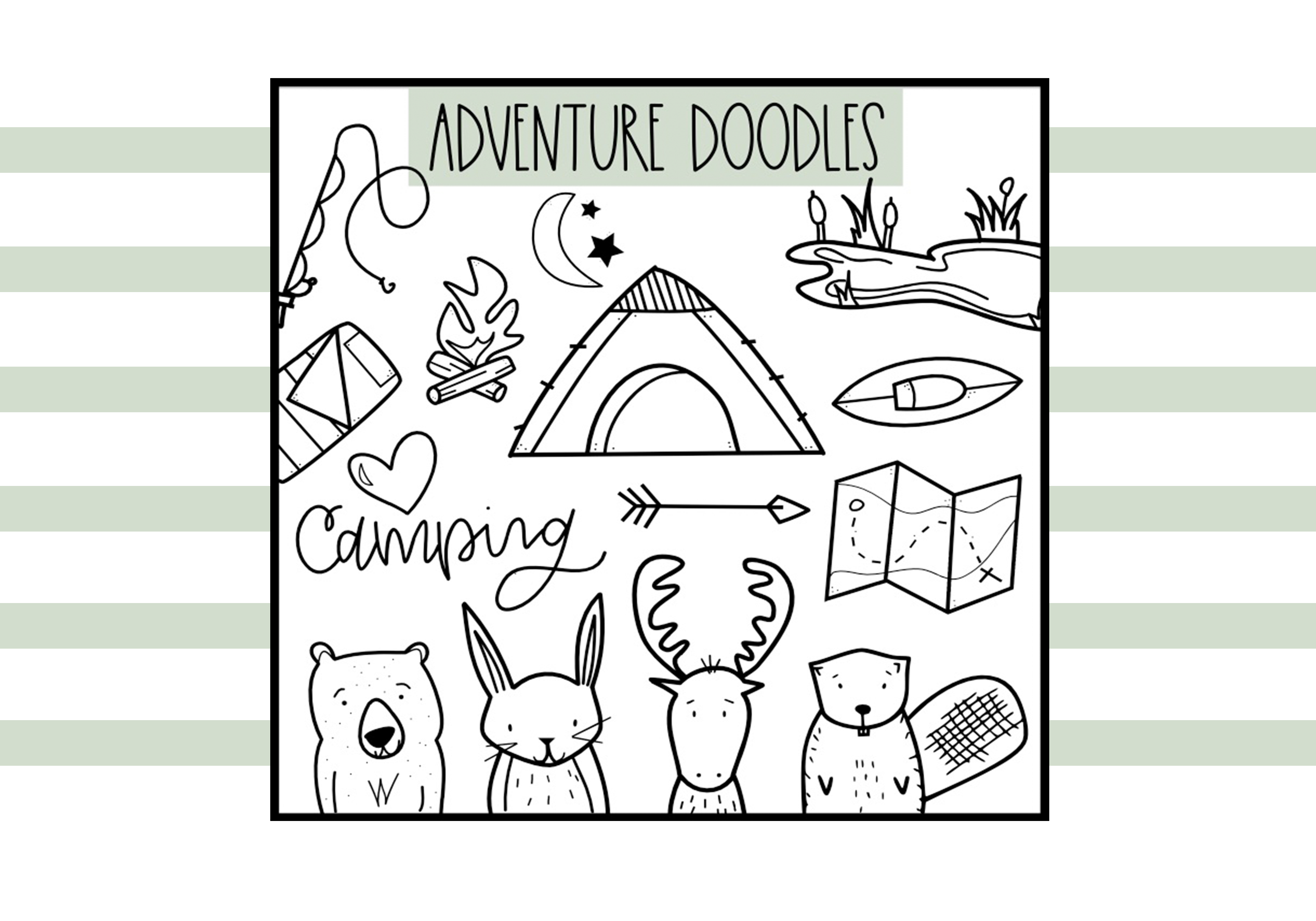 Adventure - A Camping & Outdoors Doodles Font example image 4