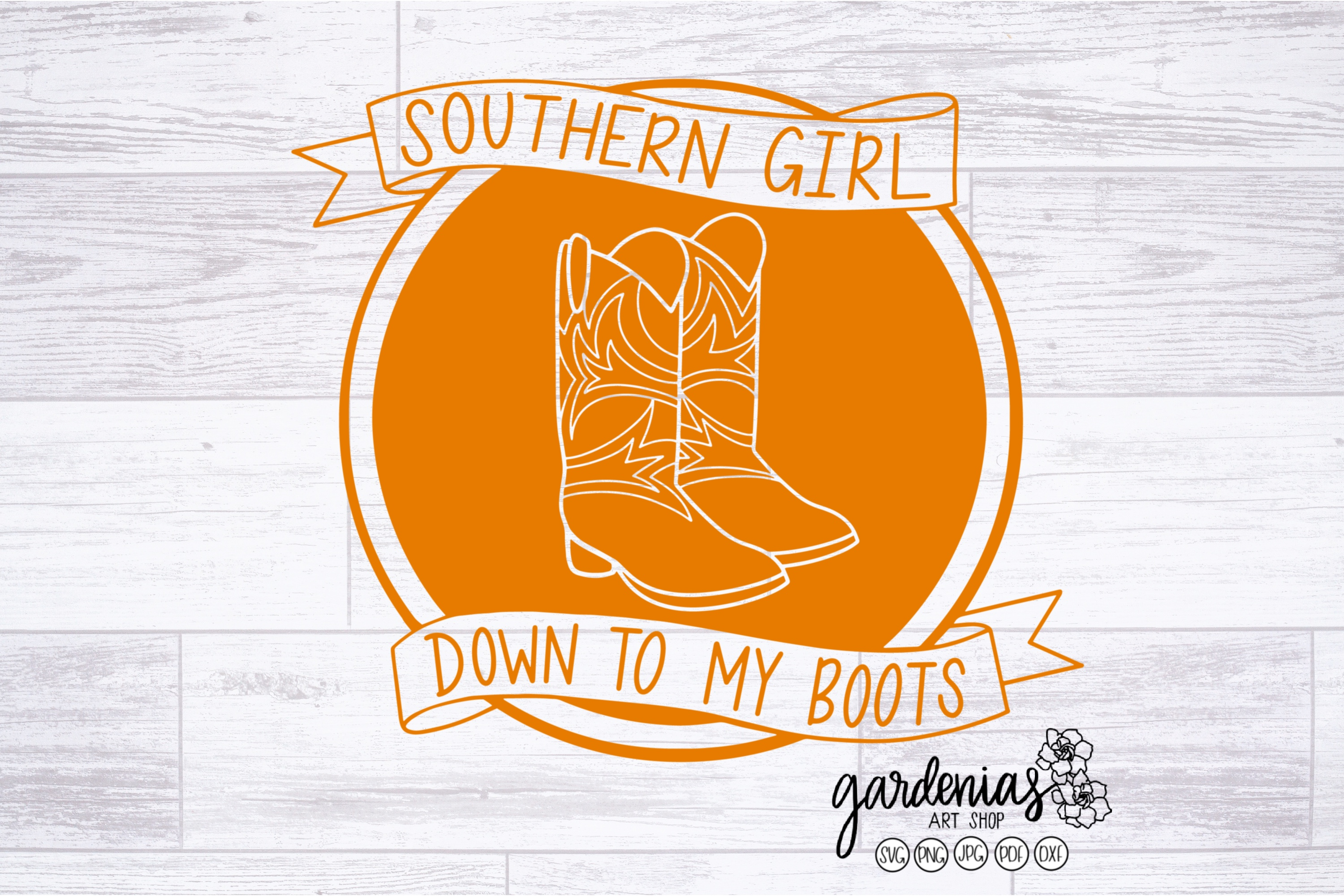 Southern Girl SVG   Southern Girl Down To My Boots Cut File example image 2