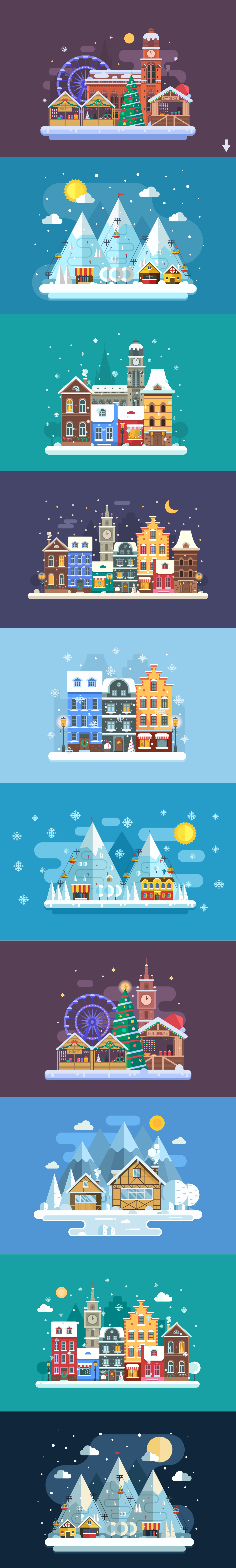 Winter Backgrounds and Landscapes example image 10