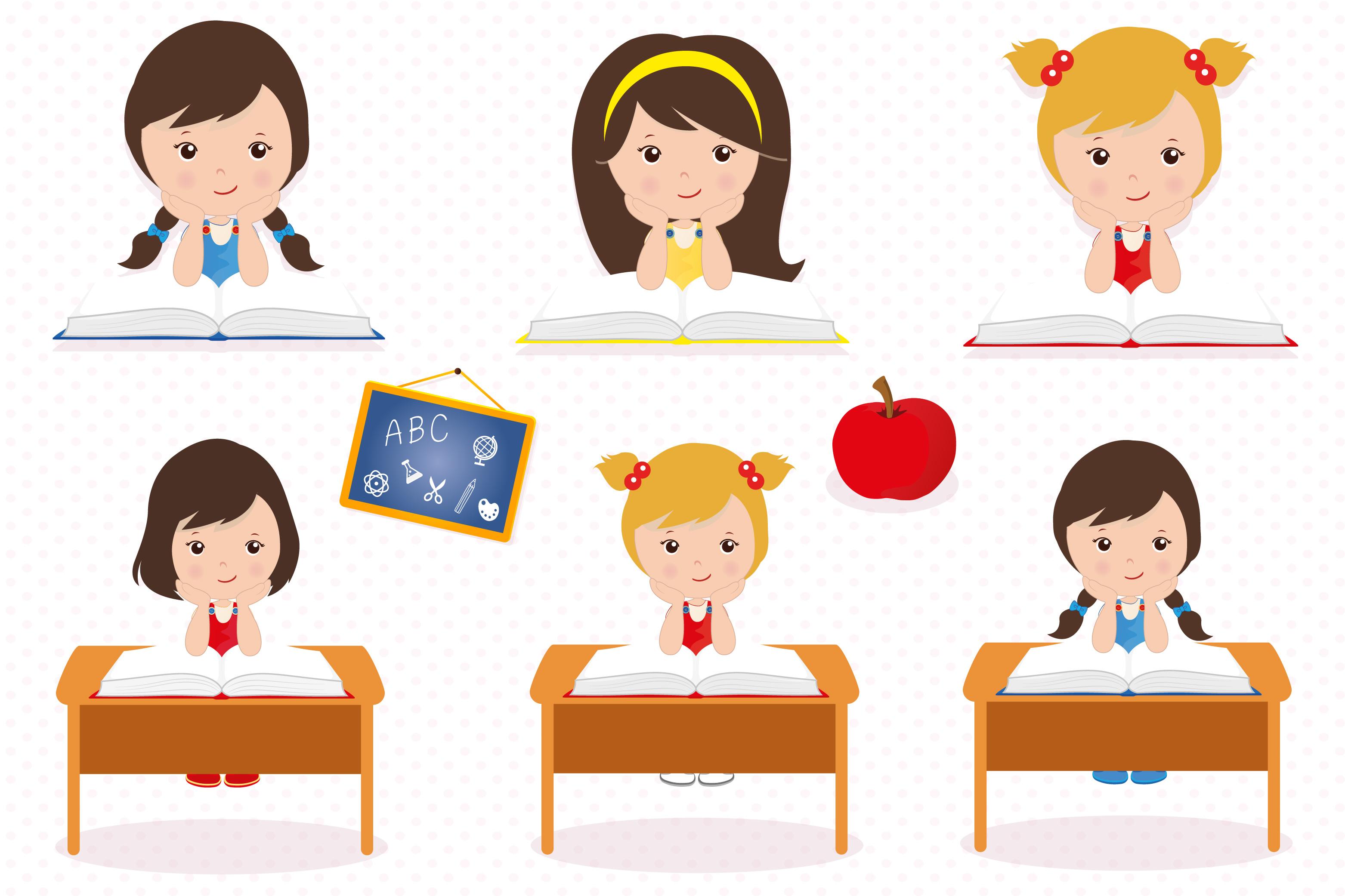 Hello school graphics, School digital papers example image 3