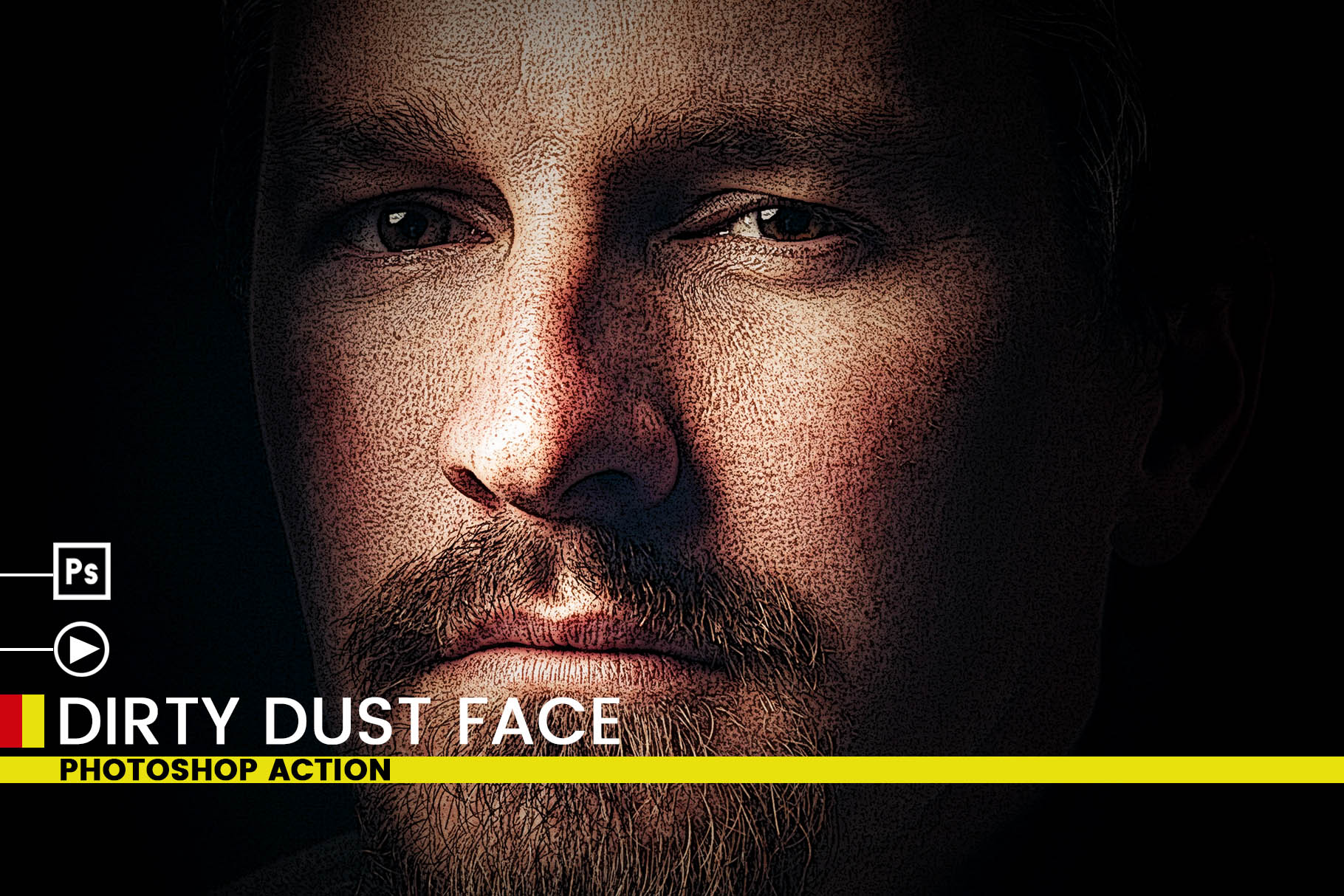 Dirty Dust Face Photoshop Actions example image 8