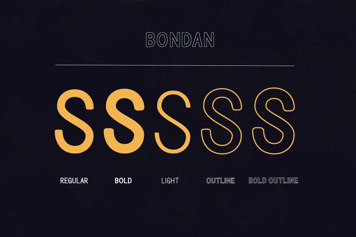 Bondan Typeface example image 4