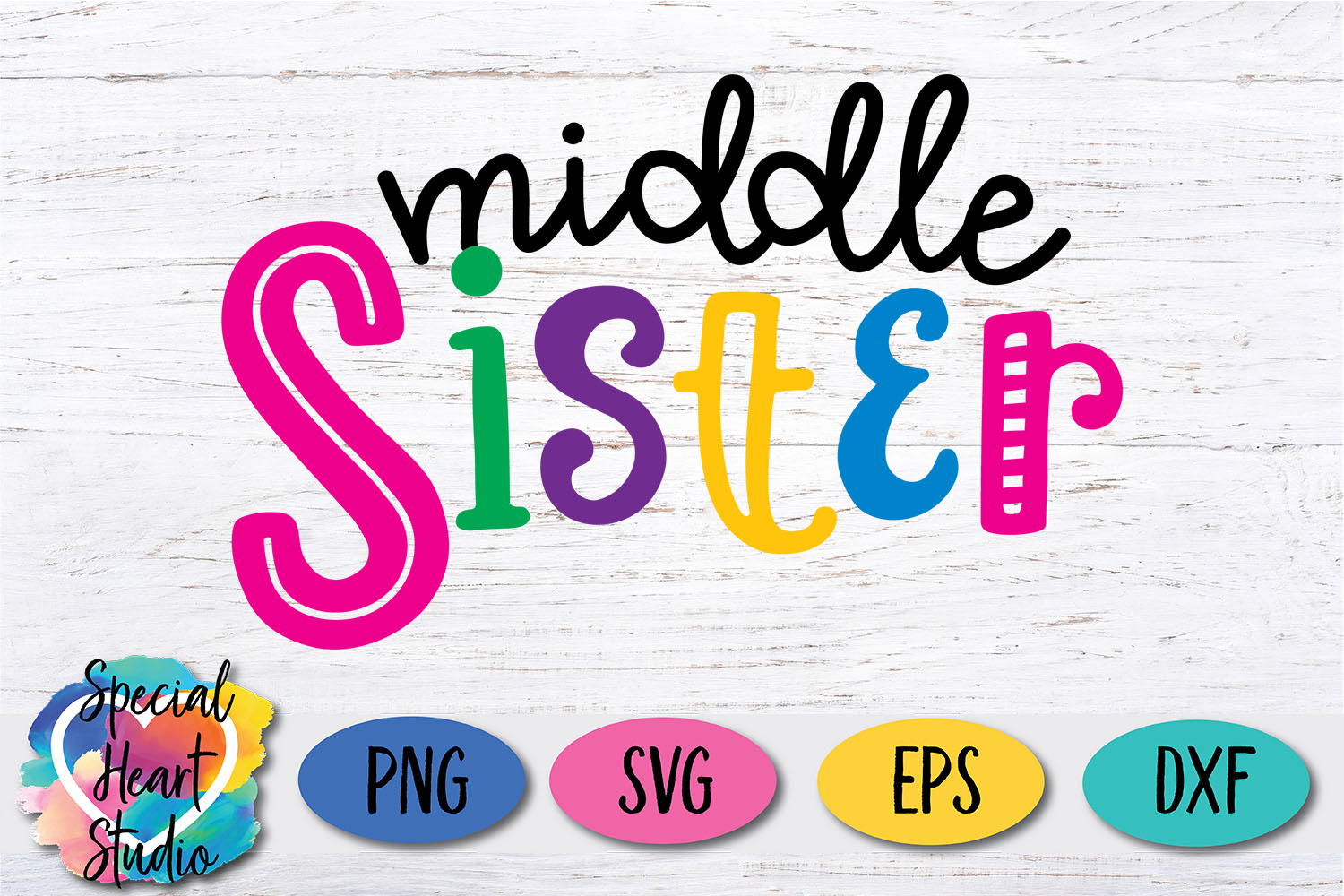 Middle Sister - A family and sibling SVG example image 2