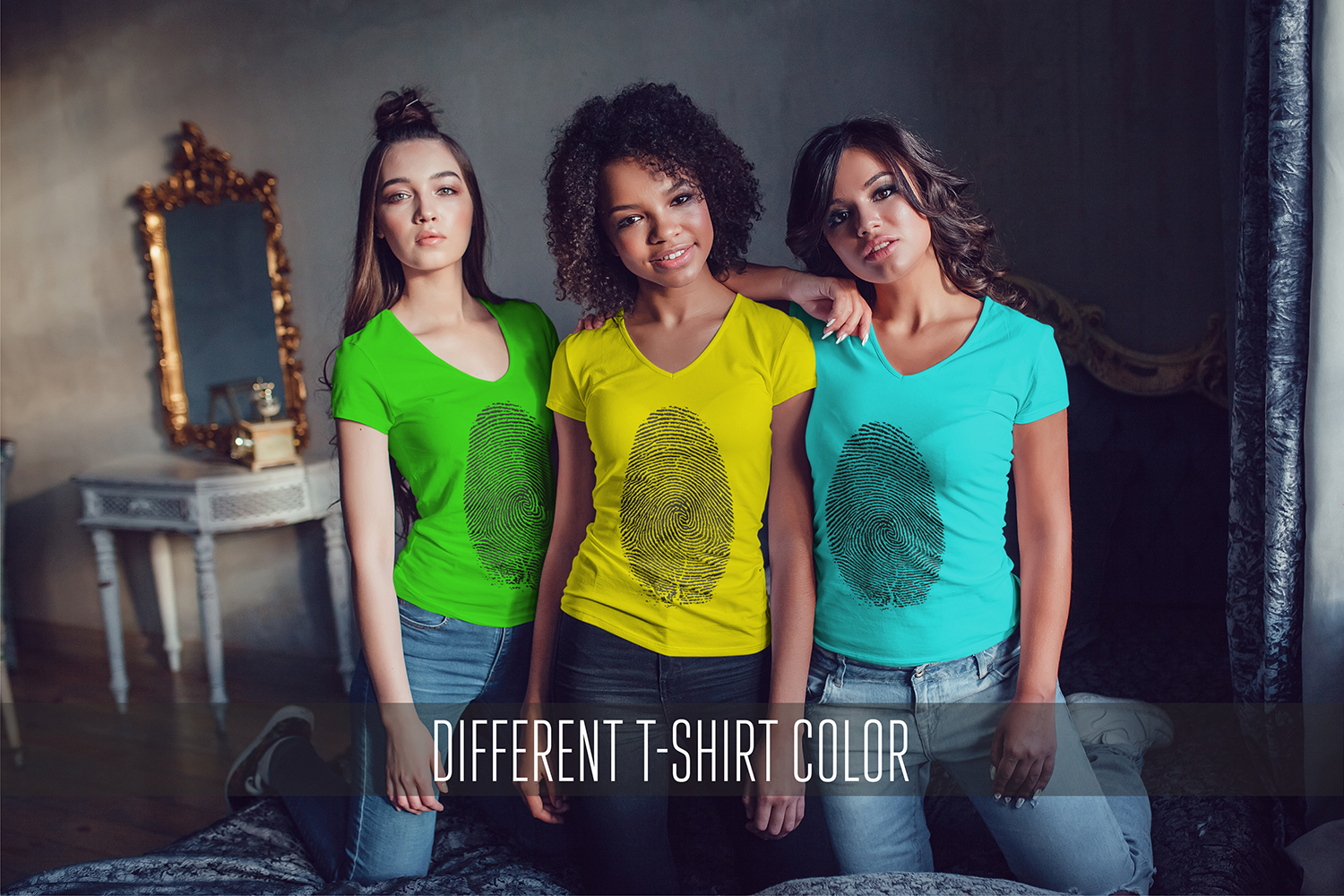 Women's T-Shirts Mock-Up Vol.1 2017 example image 11