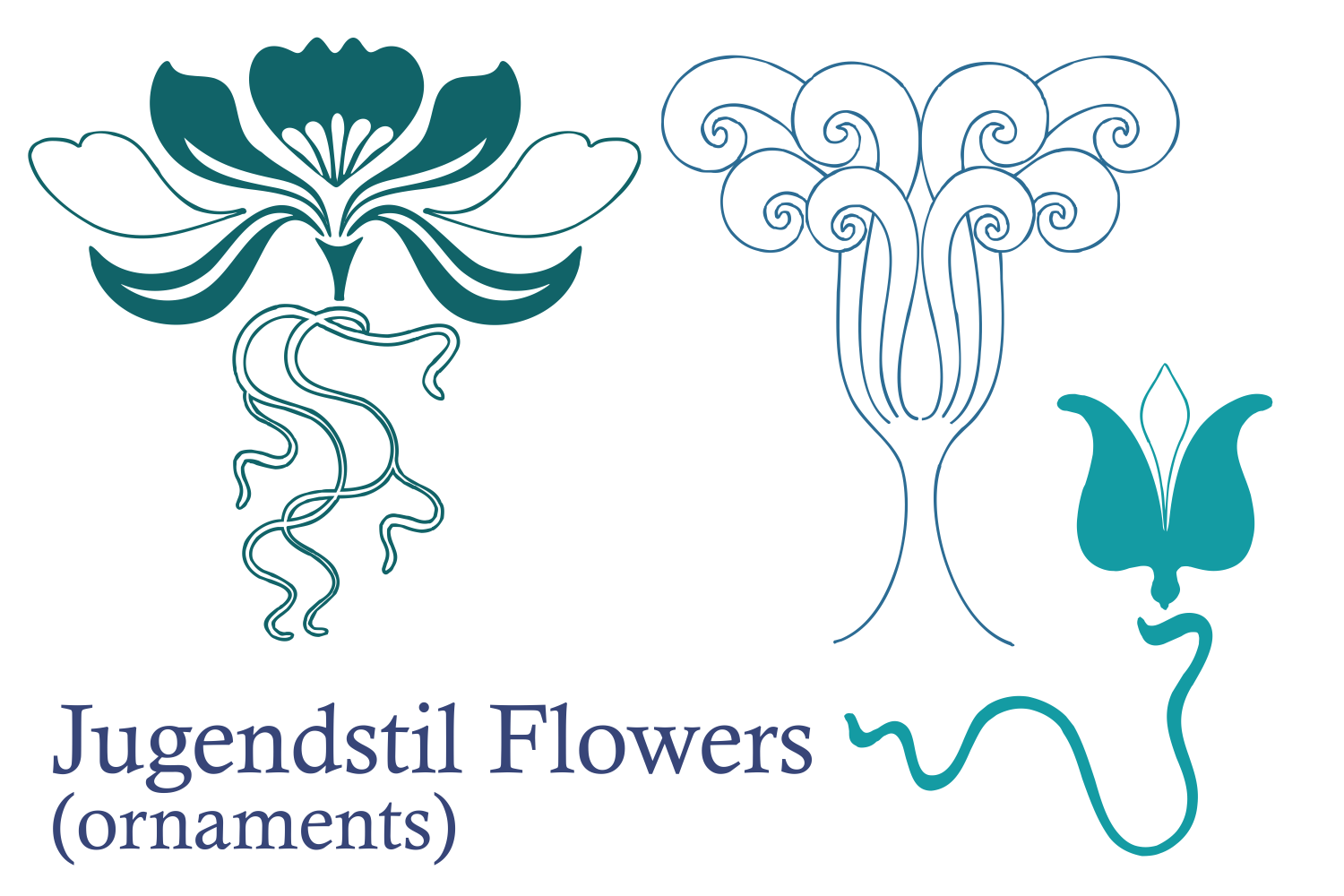 Jugendstil Flowers (family pack) example image 6