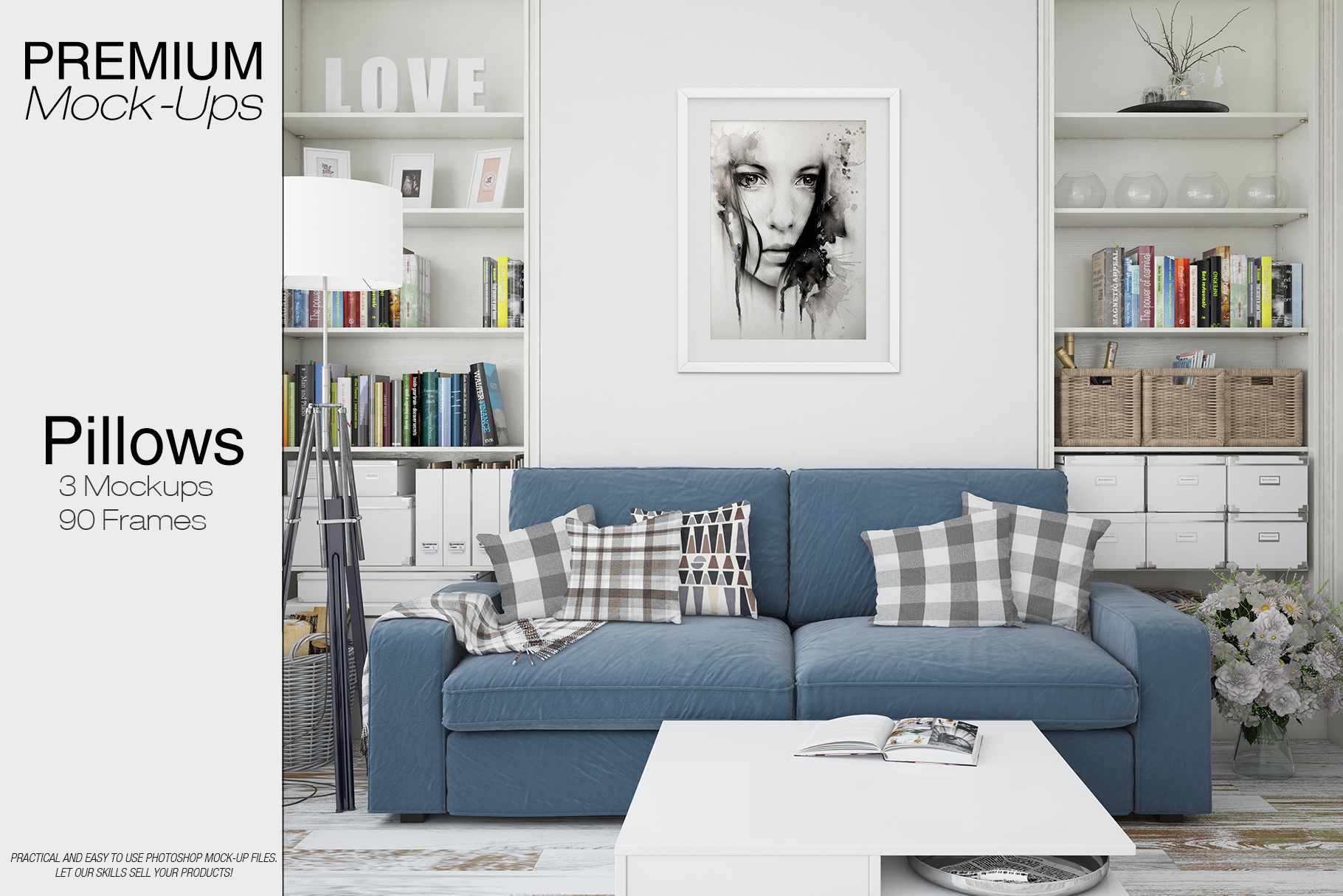 Pillows & Frames Mockup Set example image 1