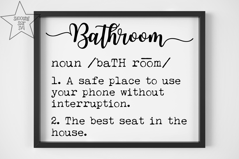 Bathroom Definition SVG - Funny Bathroom Definition SVG example image 2