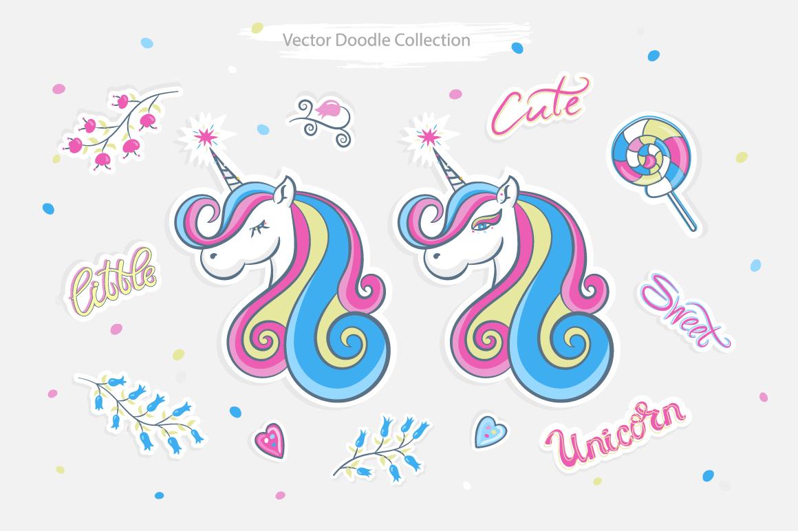 Vector little unicorn example image 2