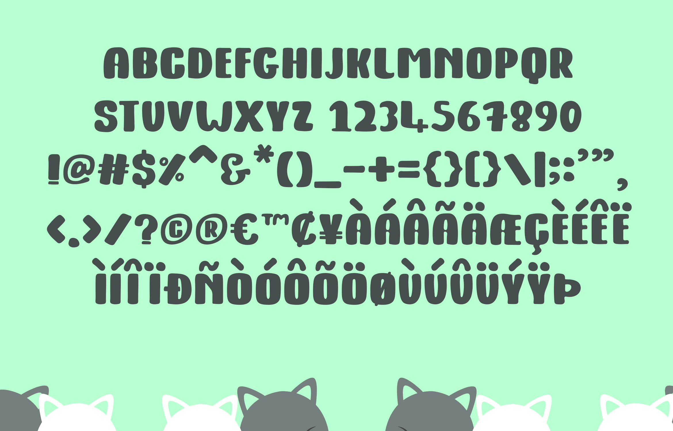 Kitty Fat - Handwritten Font example image 4