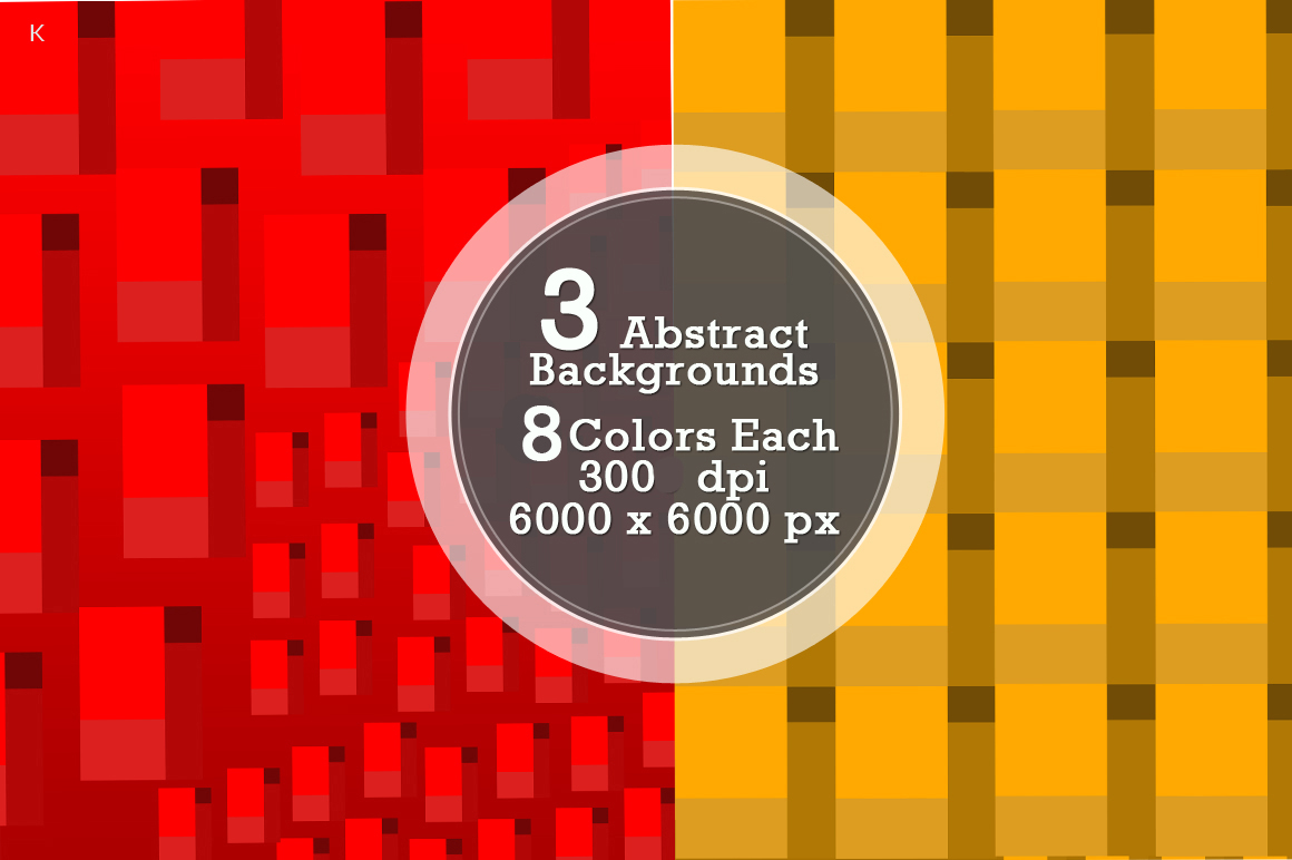 Pack of 3 Abstract Backgrounds example image 4