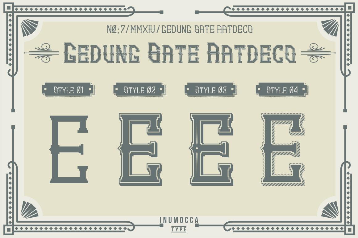 Artdeco (family font) example image 3