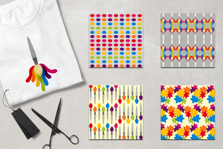 Art supplies - Painting, brush paint, canvas, palette example image 3